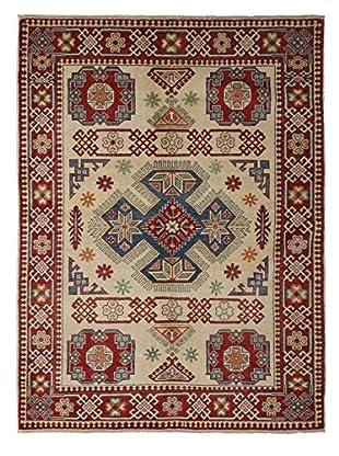 Darya Rugs Kazak Oriental Rug, Ivory, 4' 10