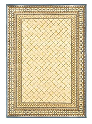 Royale Rug, Ivory/Pale Dull Blue, 5' 3