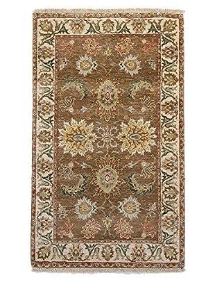 F.J. Kashanian One-of-a-Kind Hand-Knotted Agra Rug, Mocha/Ivory, 3' x 5'
