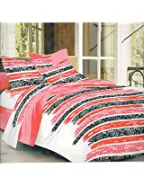 Feel Good to Shop 100% Cotton Double Bed Sheet with 2 Pillow covers