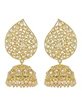 Muchmore Charm Look Gold Plated Jhumki Earrings For Women Exclusive Jewelry