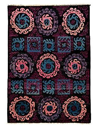 Darya Rugs Kaitag Oriental Rug, Black, 6' 2