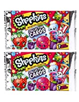 Shopkins Collector Cards - 2 Packs (14 Cards Total)