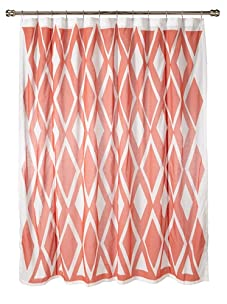AphroChic The Beat Shower Curtain (Coral/White)