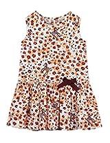Beebay Cotton Baby Girl Zebra Print Dress (G3814119201516 -Multi-Colour -9 to 10 Years)