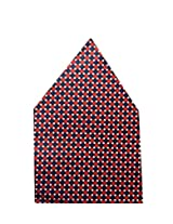 Navaksha Maroon Dots Style Pocket Square
