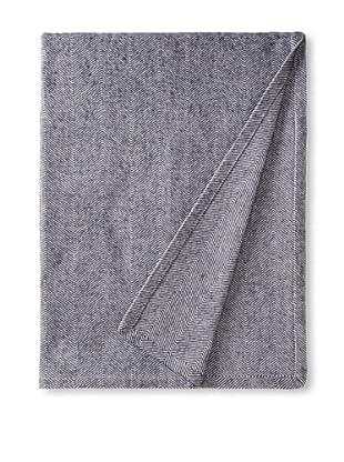 DownTown Co. Herringbone Blanket (Navy/White)