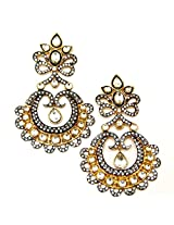 Orne Jewels Gold-Plated Dangle & Drop Earings For Women - Gold