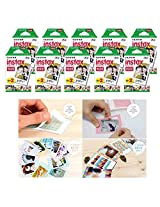 Fujifilm Instax Mini Instant Film, 2 x 10 Shoots x 10 Pack (Total 200 Shoots) Value Set + 40 Pcs Film Decorative Sticker