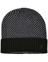 French Connection Men's Striped Hats (THCAG_Black and Charcoal)(886928126202)