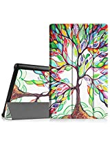 """Fintie Fire HD 10 2015 SmartShell Case - Ultra Slim Lightweight Standing Cover with Auto Wake / Sleep for Amazon Fire HD 10 Tablet (10.1"""" HD Display 5th Generation - 2015 release), Love Tree"""