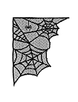 Heritage Lace 'Corner Webs 8-Inch by 10-Inch Accent, Black, Set of 2