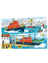Bigjigs Toys BJ051 Duo Puzzle Lifeboat