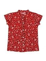 Spantajáparos Camisa Japonesa jaretas (Rojo)