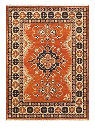 Hand-Knotted Royal Kazak Wool Rug, Dark Orange, 5' 9