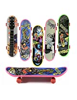 Lvzun Mini Finger Skateboard Toy Boy Kids Children Gift -8pack (Random Pattern)