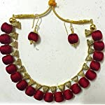 Bail neck set with bead earring