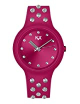 H2X One Studs Analog Pink Dial Unisex watch - SF400XF2