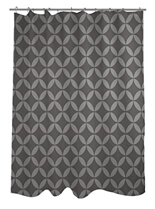 One Bella Casa Dahlia Geometric Morrocan Shower Curtain, Tonal Grey