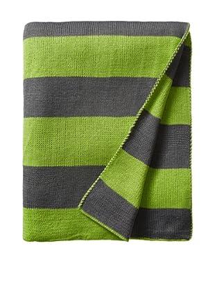 pür by pür cashmere Lime/Grey Jacquard Stripe Throw