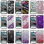 For Apple iPhone 5S 5 Colorful Design Set 4 Bling Diamond Hard Case Cover(multivalue)