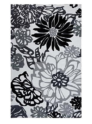 Jaipur Ka-Bloom Rug (Black/White)