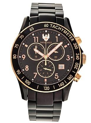 Swiss Eagle Reloj Field Talon negro / oro rosa
