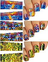 Nail Art Water Slide Tattoo Decals Full Cover Refreshingly Different, 3 Pack /Civ/