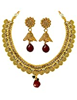 Surat Diamonds Gold Plated Copper Fine Designer Fashion Jewellery Set for Wedding / Engagement for Women (PS304)