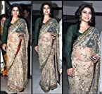 Kajol Gold Jhalak Bollywood Replica Saree