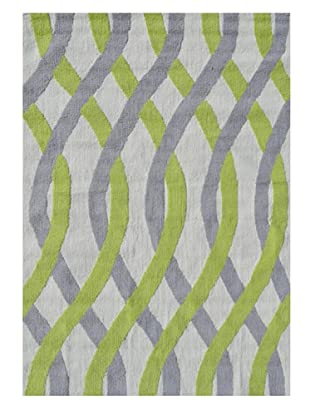 The Rug Market Tangled Rug (Gray/Green/White)
