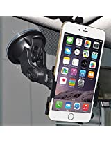 AMZER Suction Cup Windshield, Dash, Console Mount Holder for Apple iPhone 7 Plus, iPhone 6/ 6S Plus - Black