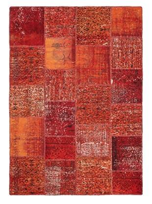 Handmade Ottoman Yama Patchwork Wool Rug, Red, 5' 7