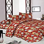 Jaipuri Sanagari Print Double Bed Sheet With 2 Pillow Covers With Two Pillow Covers