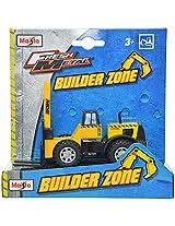 Maisto Builder Zone Forklift Die Cast Toy Truck (Yellow)