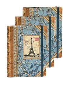 Punch Studio Set of 3 Library Journals (Paris)
