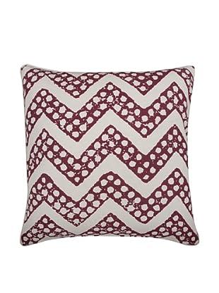 Thomas Paul Chevron Feather Pillow, Ruby