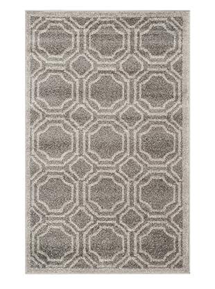 Safavieh Amherst Indoor/Outdoor Rug, Grey/Light Grey, 3' x 5'
