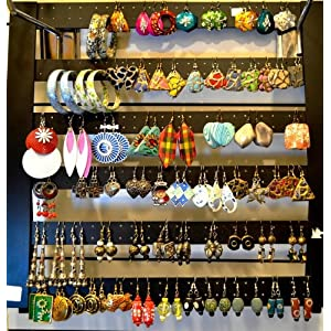 Set of any 5 pairs of funky assorted earrings for casual or daily use