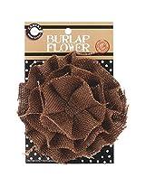 Canvas Corp CVS3396 Burlap Flower 4-Inch Chocolate