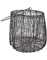Craftos Impex Iron Basket (31.5 cm x 28 cm x 24.5 cm, Black)