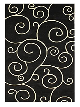 Horizon Scrolls Rug (Black/Ivory)