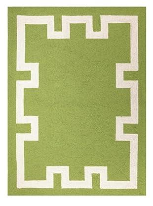 Peking Handicraft Simple Greek Key Rug, Green