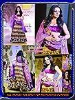 Triveni Celina Jaitley Purple Net Velvet Bollywood Replica Lehenga Choli TSBCJ01