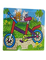 DCS wooden Bicycle Puzzle (6X6 IN)