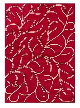 Chandra Ariel Rug (Red)