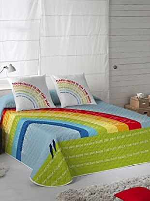 Wild About Words Colcha Bouti Rainbow (Multicolor)