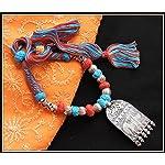 Elephant Pendant Thread Necklace - Multi colors