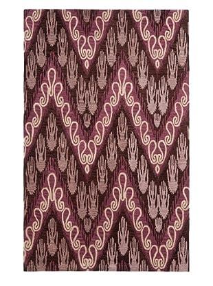 Safavieh Hand-Tufted Wool Ikat Rug, Dark Brown/Purple (DARK BROWN/PURPLE)