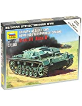 Zvezda Models Sturmgeschutz III Ausf.B Vehicle Building Kit, Scale 1/100